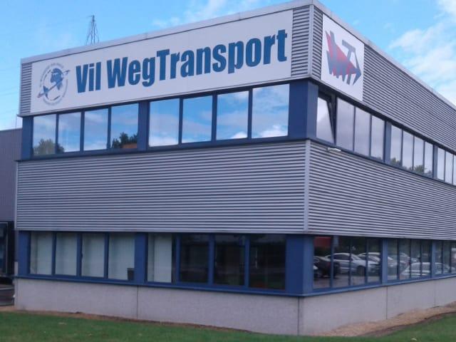 reclamepaneel Vil Weg Transport