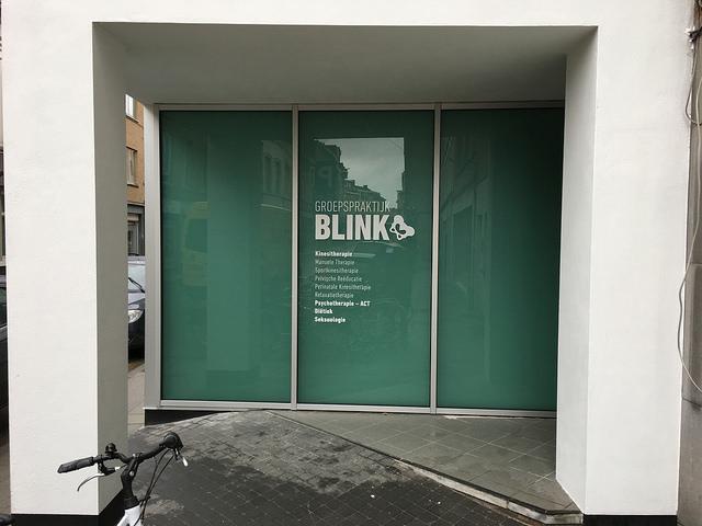 Etalagebelettering Blink