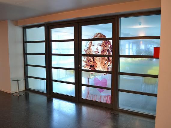retail interieurtoepassingen - glasheldere folie