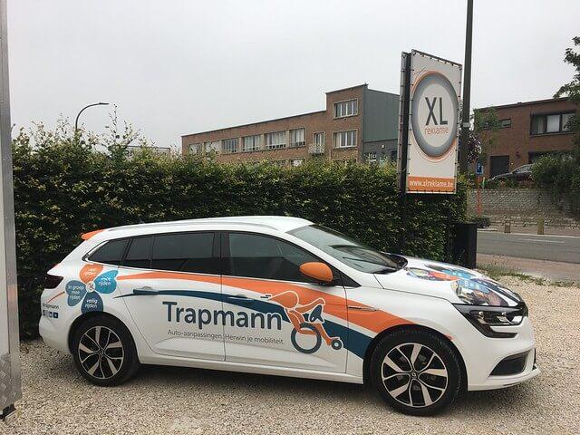 XL Reklame belettering wagenpark Trapmann
