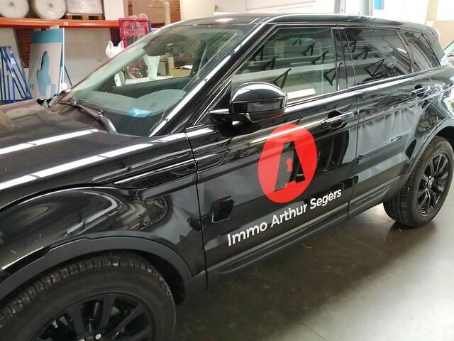 XL Reklame - belettering wagens Immo Arthur Segers