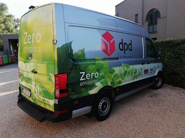 Belettering elektrische bestelwagen DPD - XL Reklame
