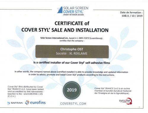 Beletteraar Ost is certified installer van Cover Styl'