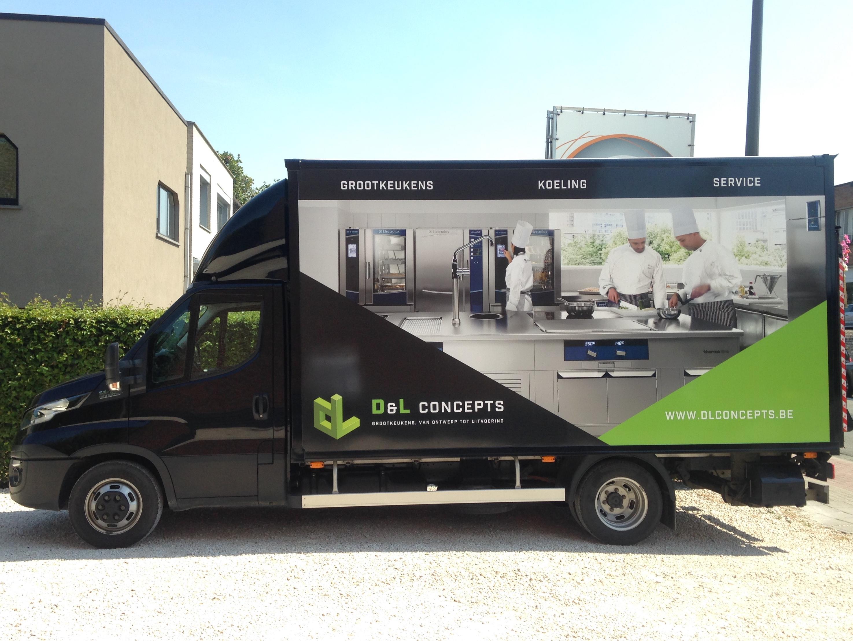 XL Reklame Mechelen - Autobelettering D&L Concepts