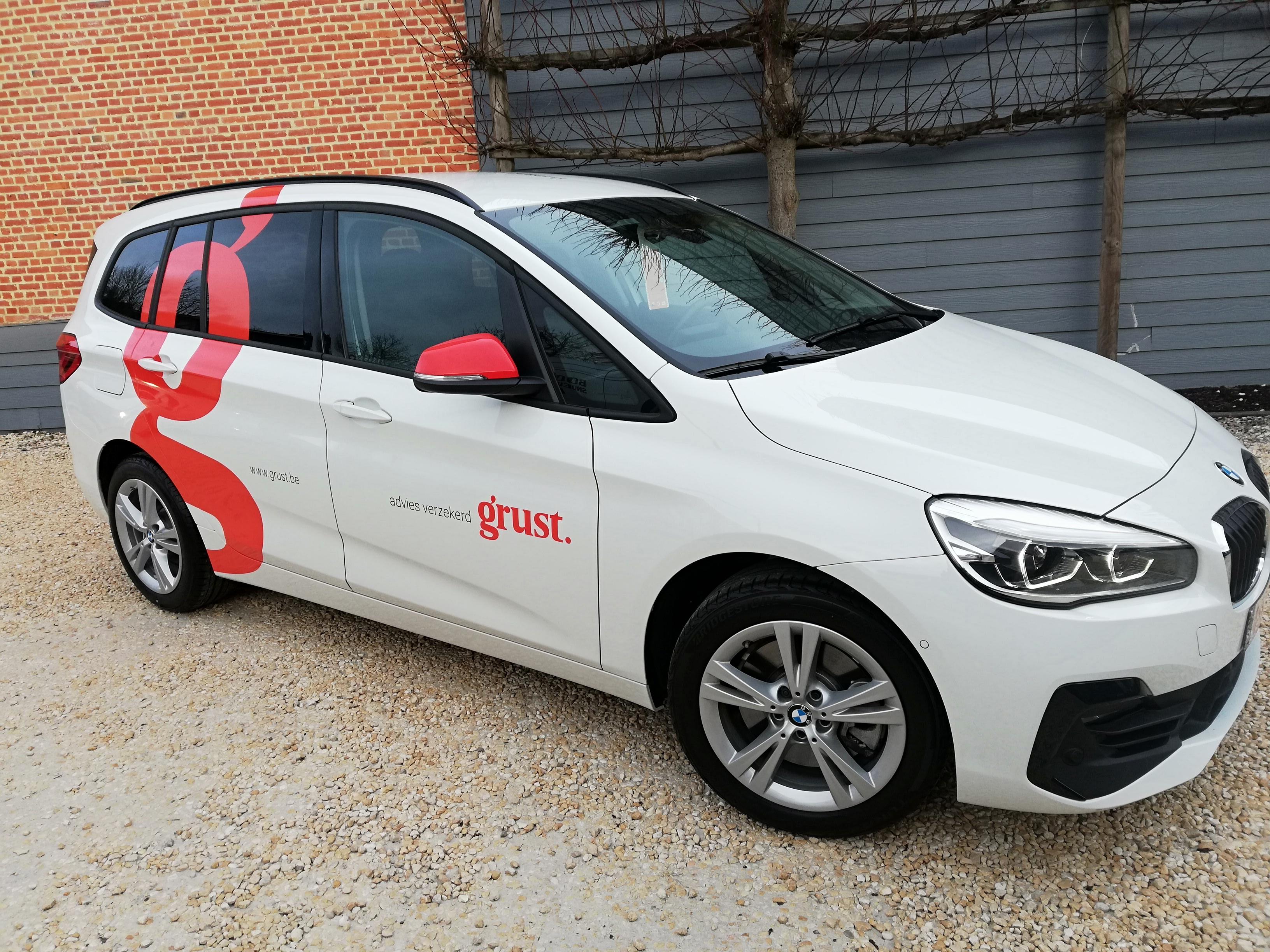 XL Reklame Mechelen - autobelettering Grust