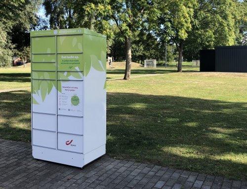 Belettering Pakjesautomaten bpost in Mechelen