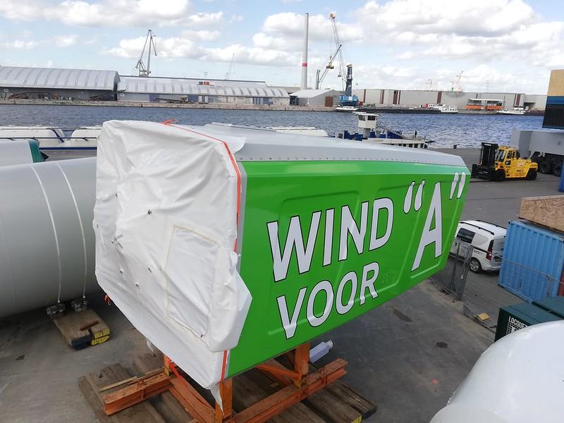 Belettering windmolen VLEEMO