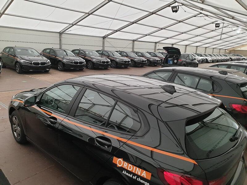 XL Reklame Mechelen - Belettering wagenpark Ordina