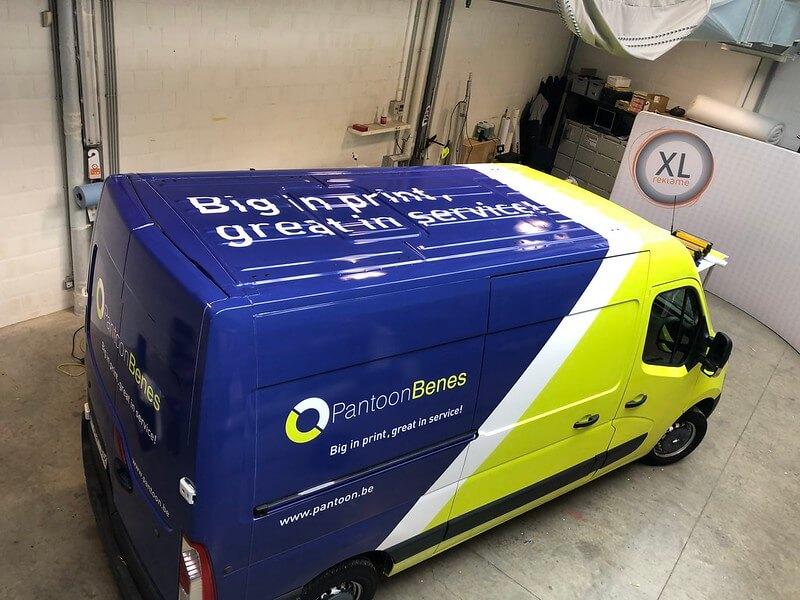 Full wrap bestelwagen PantoonBenes