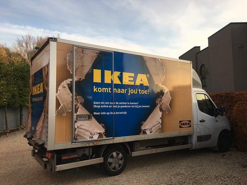 Autobelettering Ikea - XL Reklame Mechelen
