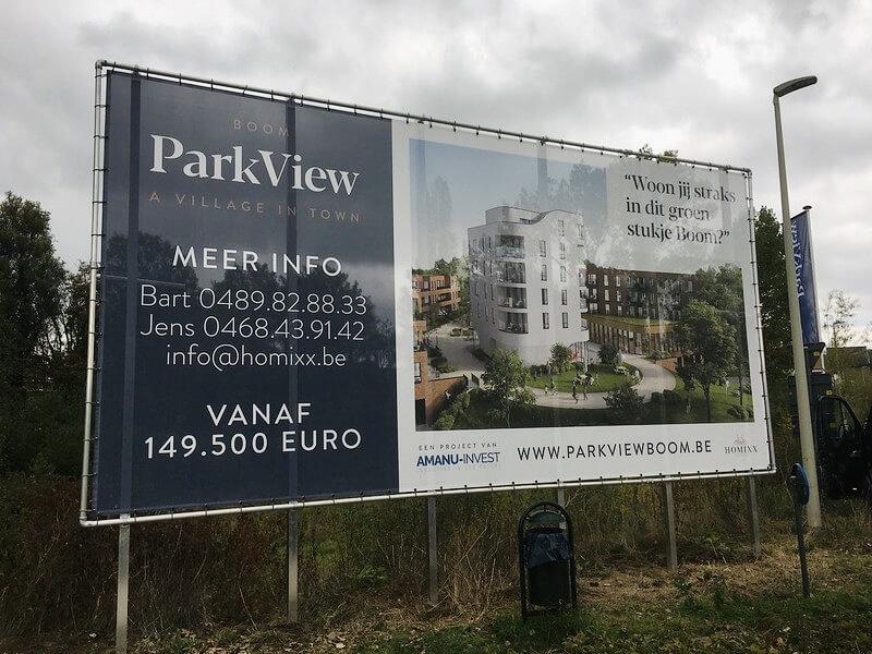 Easy flex constructie op palen bij ParkView Boom