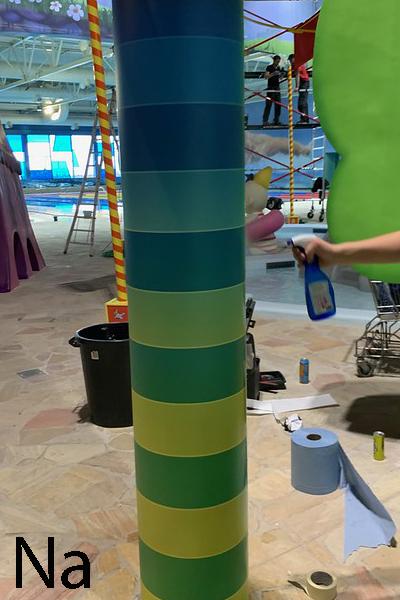 Wrapping kleurenpaal Plopsaqua Landen