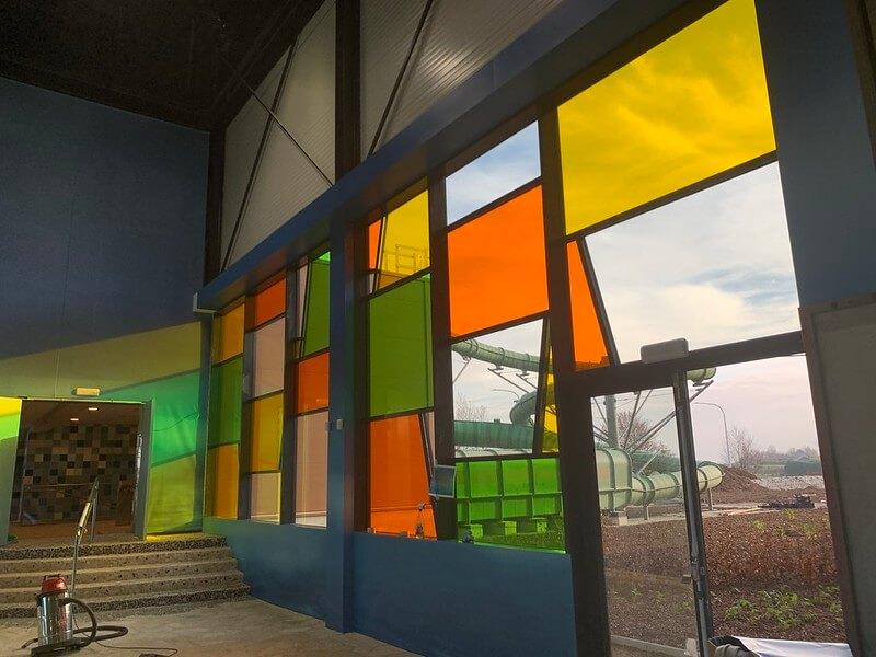 Glasheldere Transparantie Kleurfolie Plopsaqua Landen